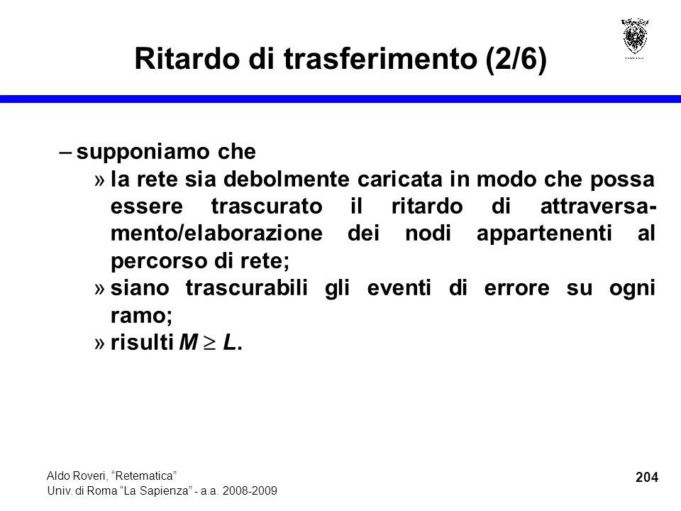 204 Aldo Roveri, Retematica Univ. di Roma La Sapienza - a.a.