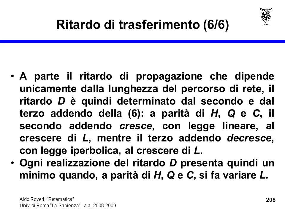208 Aldo Roveri, Retematica Univ. di Roma La Sapienza - a.a.