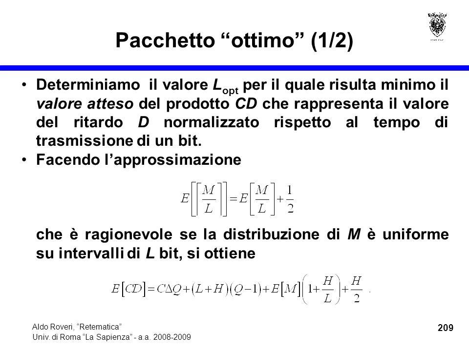 209 Aldo Roveri, Retematica Univ. di Roma La Sapienza - a.a.