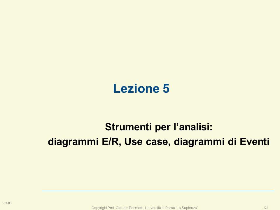 Copyright Prof. Claudio Becchetti, Università di Roma La Sapienza -120 7/1/03 Obiettivi raggiunti l saper scegliere il giusto modello di sviluppo in b
