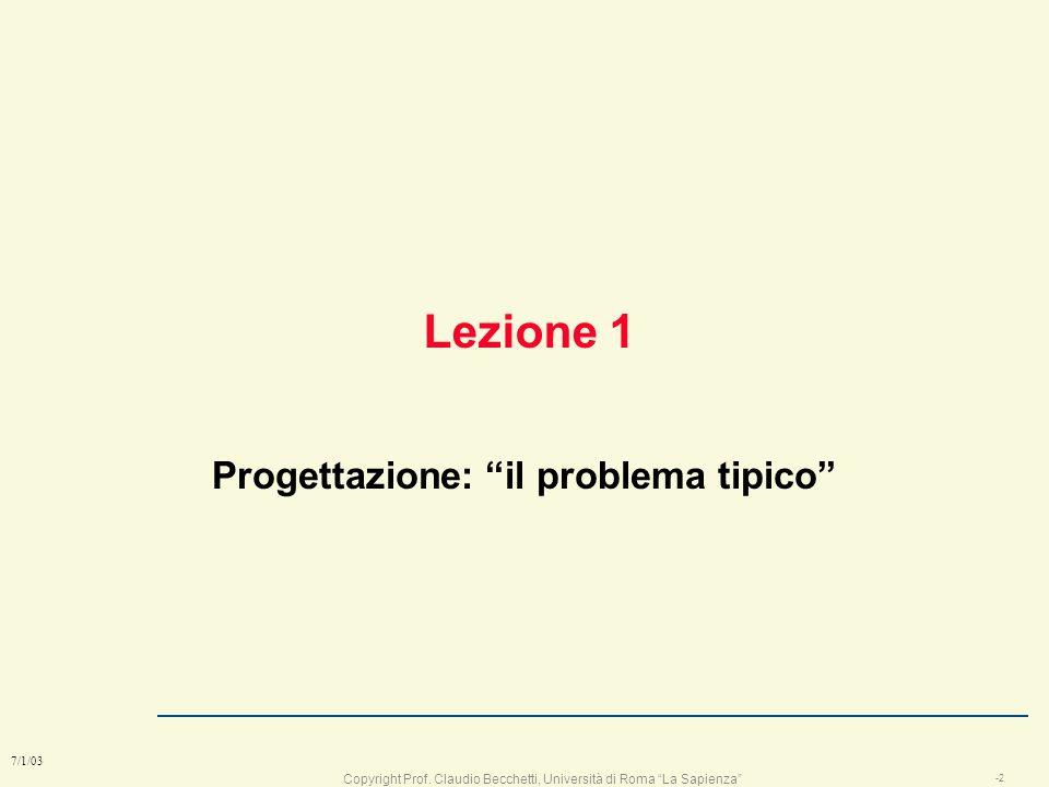 Copyright Prof. Claudio Becchetti, Università di Roma La Sapienza 7/1/03 Progettazione di Apparati e Sistemi di TLC Prof. Claudio Becchetti Laboratori