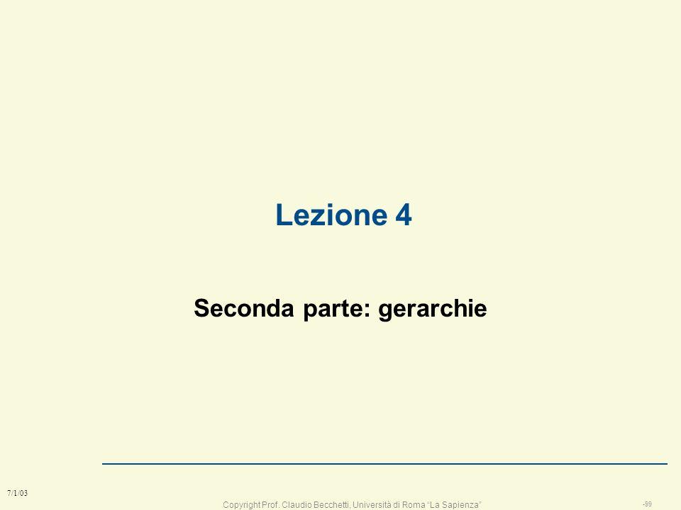 Copyright Prof. Claudio Becchetti, Università di Roma La Sapienza -98 7/1/03 Quale modello l La scelta del modello è influenzata da vari fattori: n fo