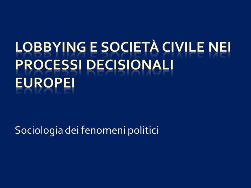 Rappresentanza politica e rappresentanza dinteressi (la questione del mandato) Pluralismo Neocorporativismo