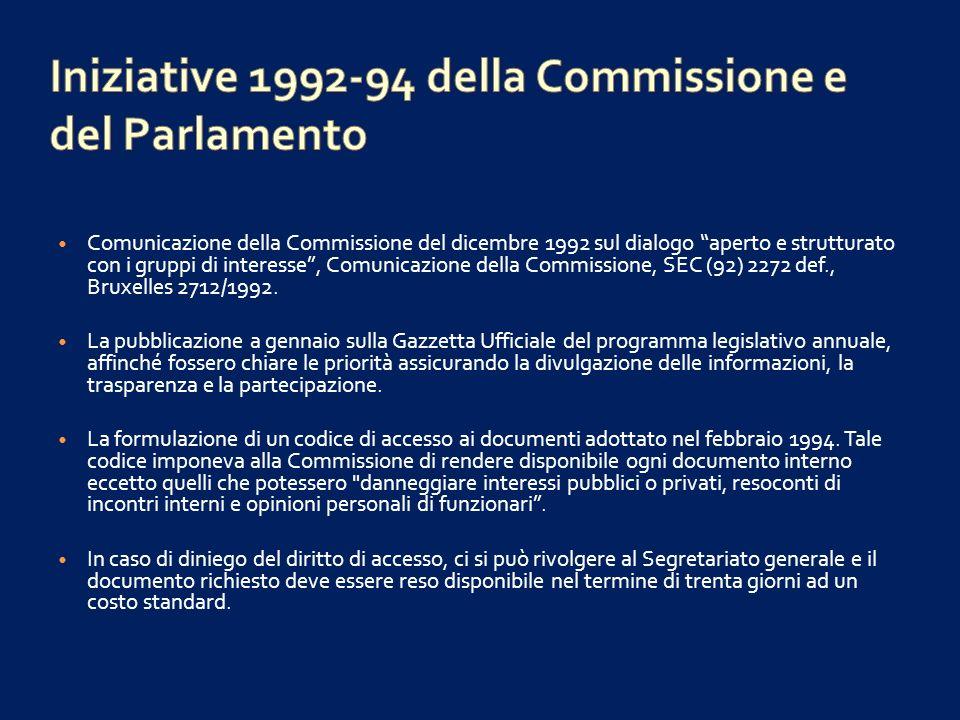 Il diritto di accesso doveva essere controllato da un lasciapassare personale, annuale, ottenuto con liscrizione ad un registro, rinnovabile dopo la presentazione di una dichiarazione di attività relativa a tutti gli interventi effettuati presso i parlamentari o i funzionari.