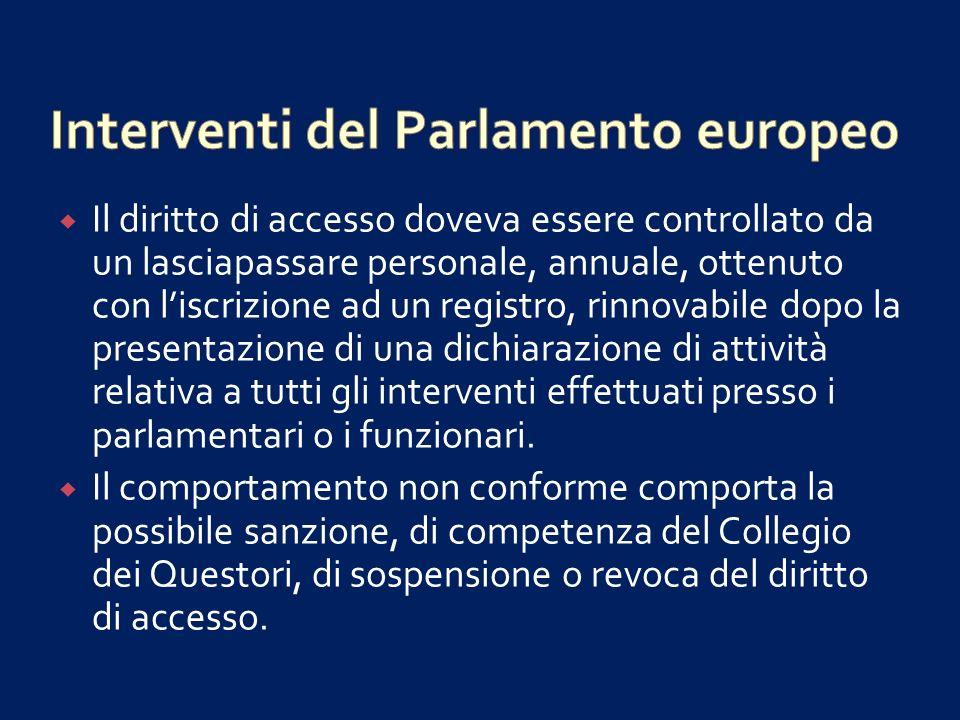 1.Libro bianco sulla governance europea (2001) 2.