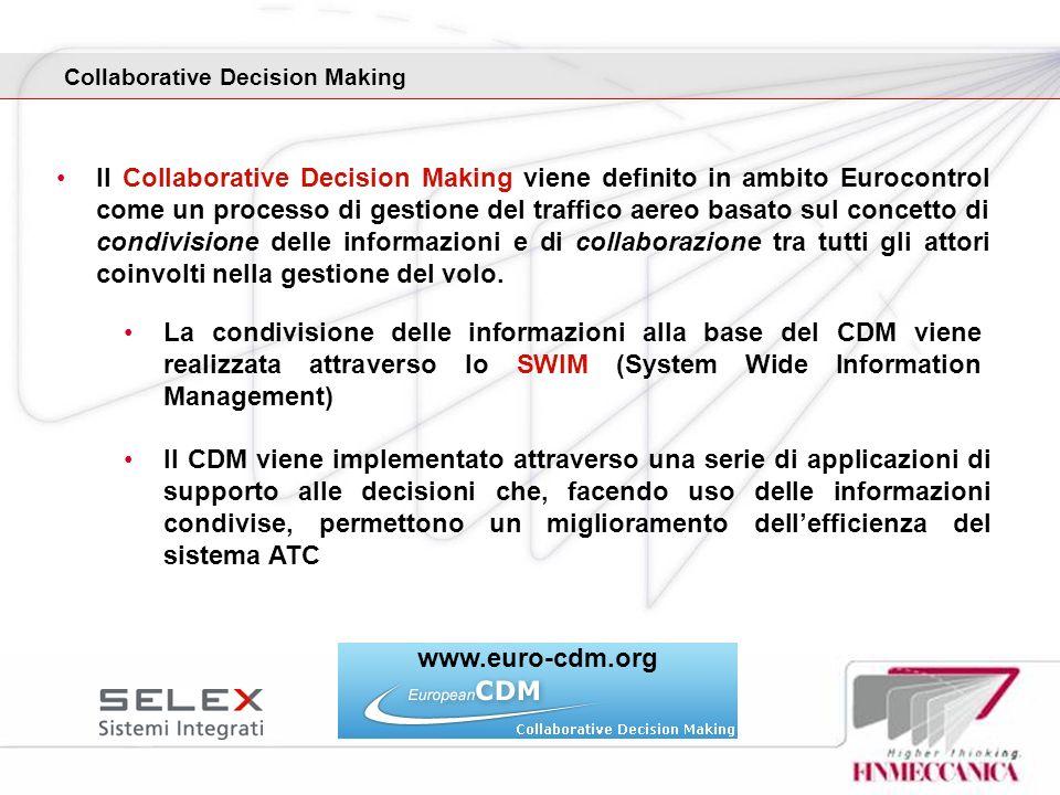 Collaborative Decision Making Il Collaborative Decision Making viene definito in ambito Eurocontrol come un processo di gestione del traffico aereo ba