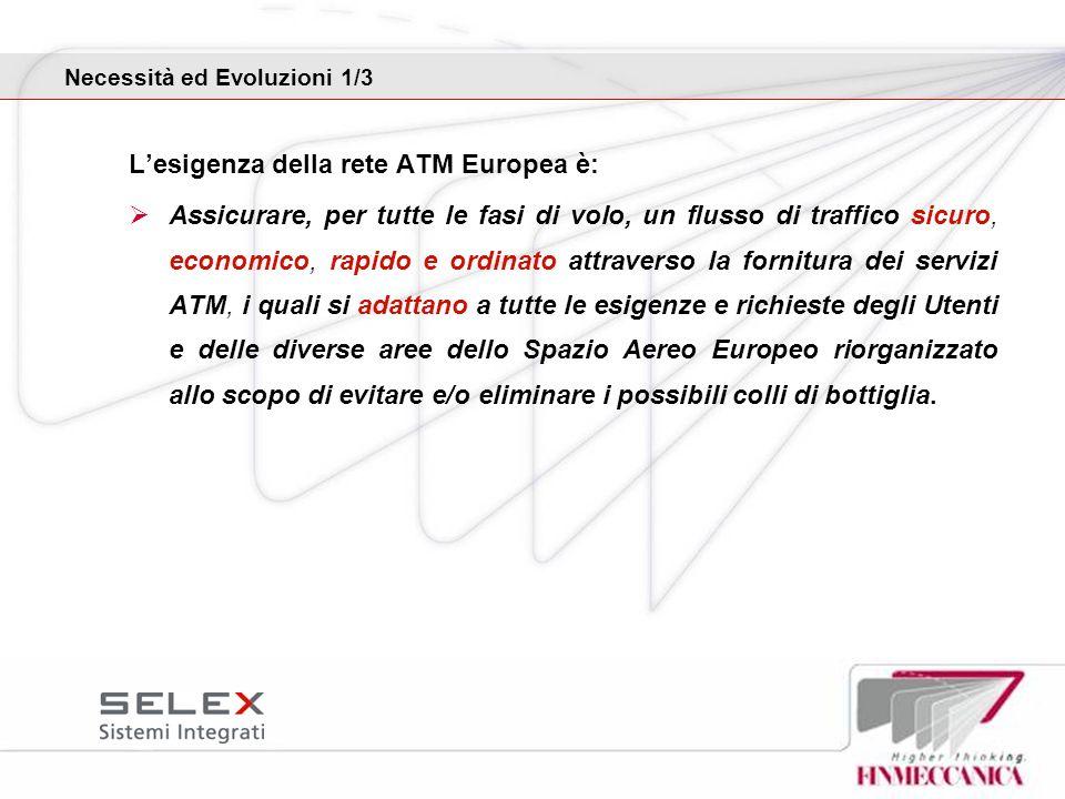Lesigenza della rete ATM Europea è: Assicurare, per tutte le fasi di volo, un flusso di traffico sicuro, economico, rapido e ordinato attraverso la fo