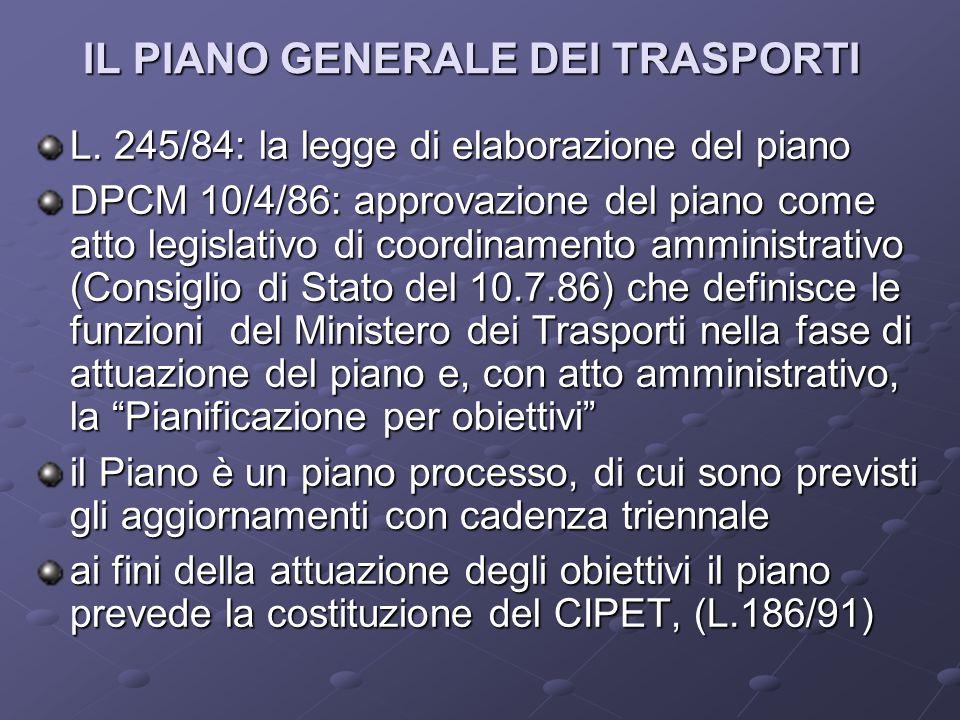IL PIANO GENERALE DEI TRASPORTI L.