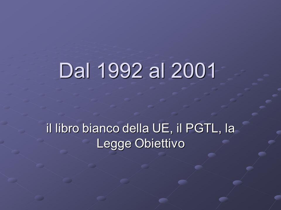 Dal 1992 al 2001 il libro bianco della UE, il PGTL, la Legge Obiettivo