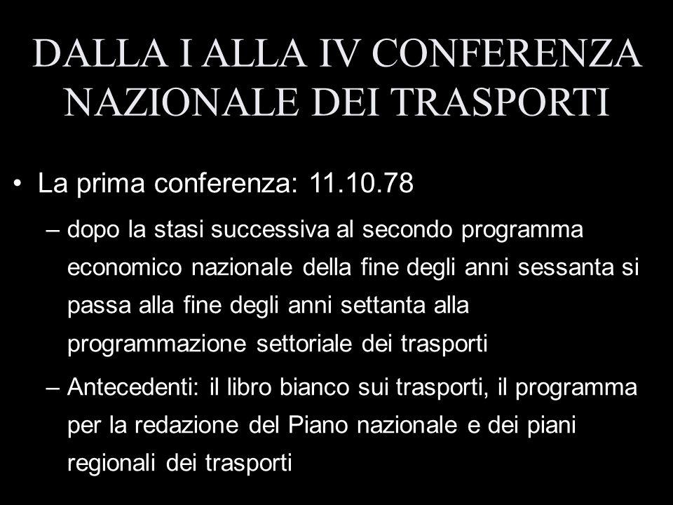 La prima conferenza: 11.10.78 –dopo la stasi successiva al secondo programma economico nazionale della fine degli anni sessanta si passa alla fine deg