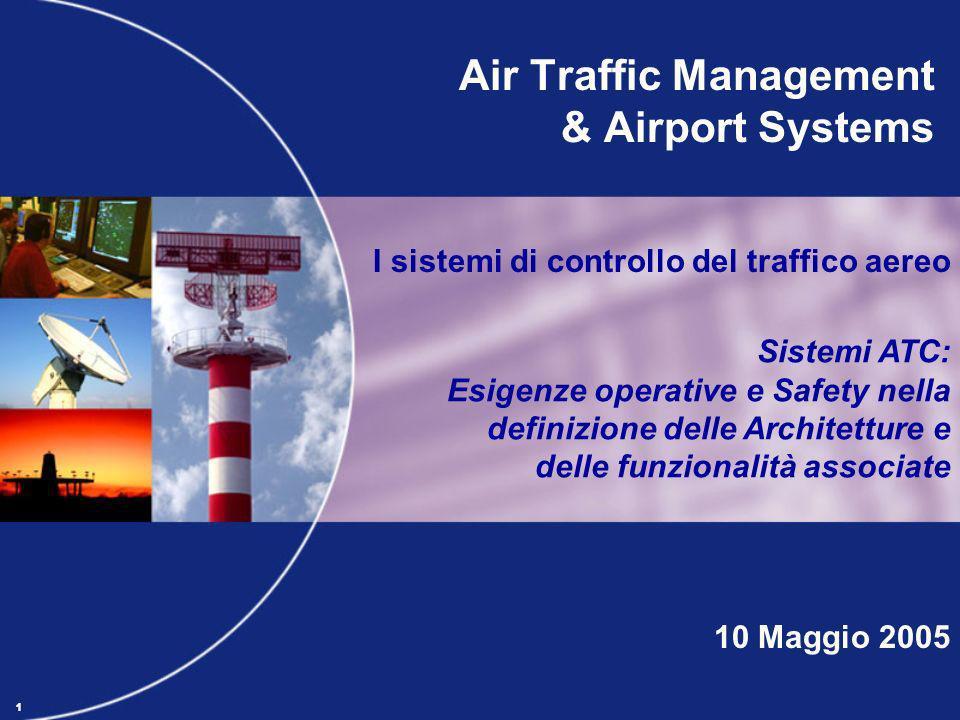 11 Air Traffic Management & Airport Systems I sistemi di controllo del traffico aereo Sistemi ATC: Esigenze operative e Safety nella definizione delle
