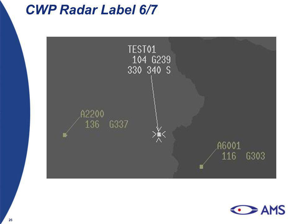 26 CWP Radar Label 6/7