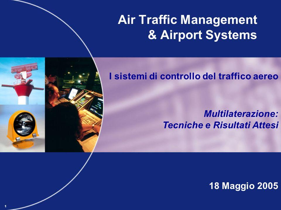 1 Air Traffic Management & Airport Systems 18 Maggio 2005 I sistemi di controllo del traffico aereo Multilaterazione: Tecniche e Risultati Attesi