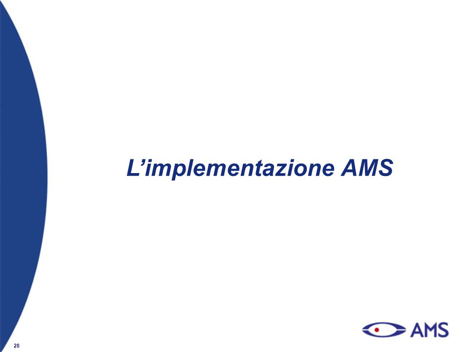 28 Limplementazione AMS