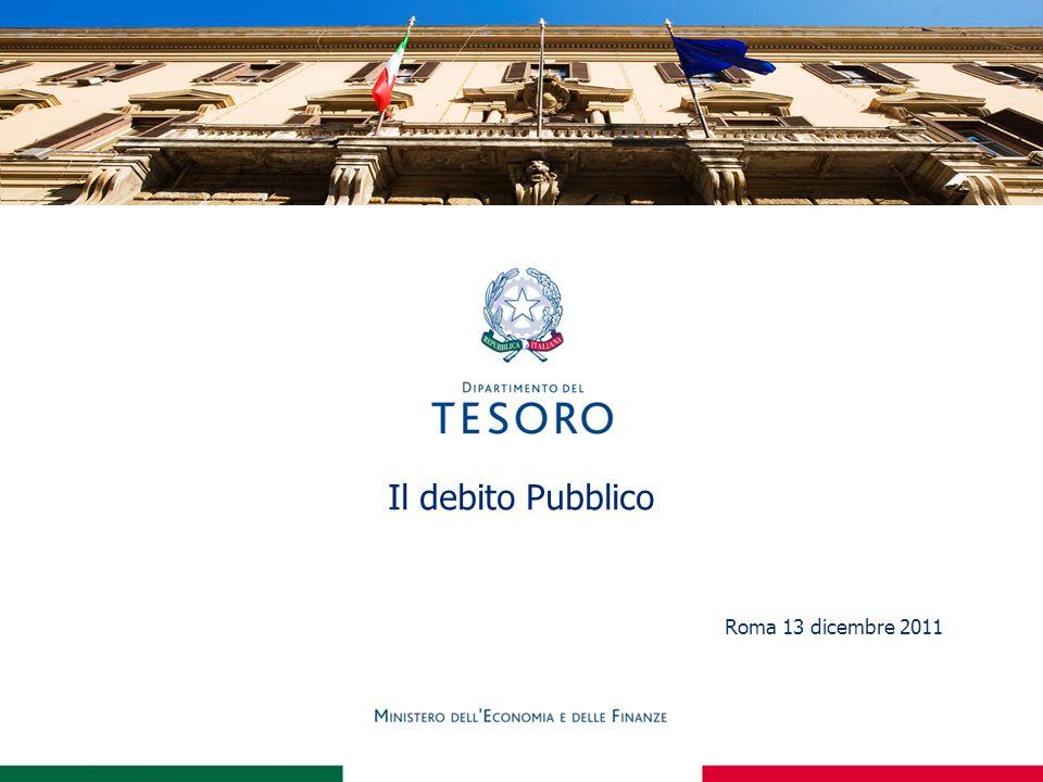 Il debito Pubblico Roma 13 dicembre 2011