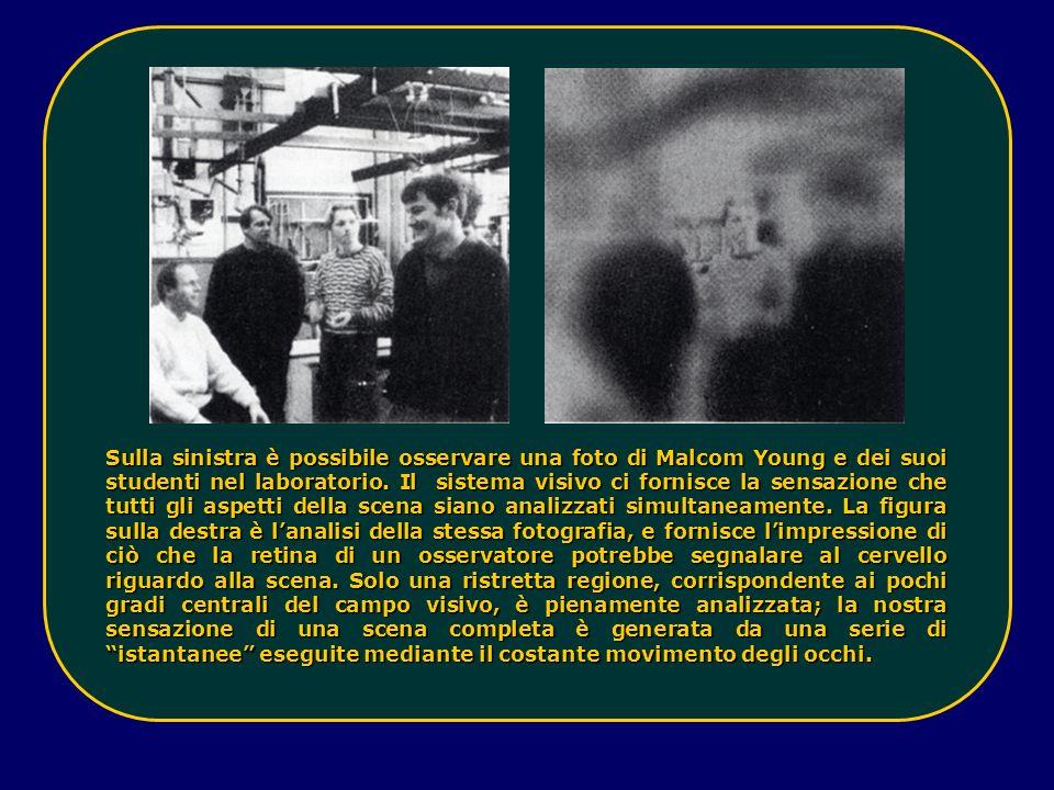 Sulla sinistra è possibile osservare una foto di Malcom Young e dei suoi studenti nel laboratorio.