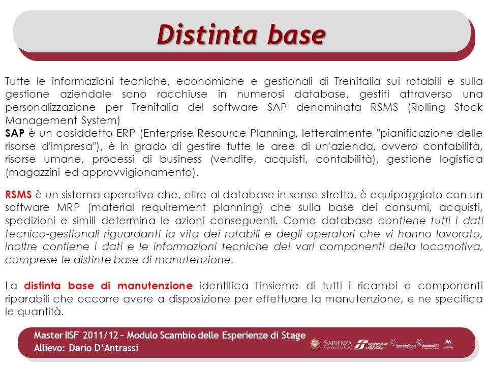 Master IISF 2011/12 – Modulo Scambio delle Esperienze di Stage Allievo: Dario DAntrassi Tutte le informazioni tecniche, economiche e gestionali di Tre