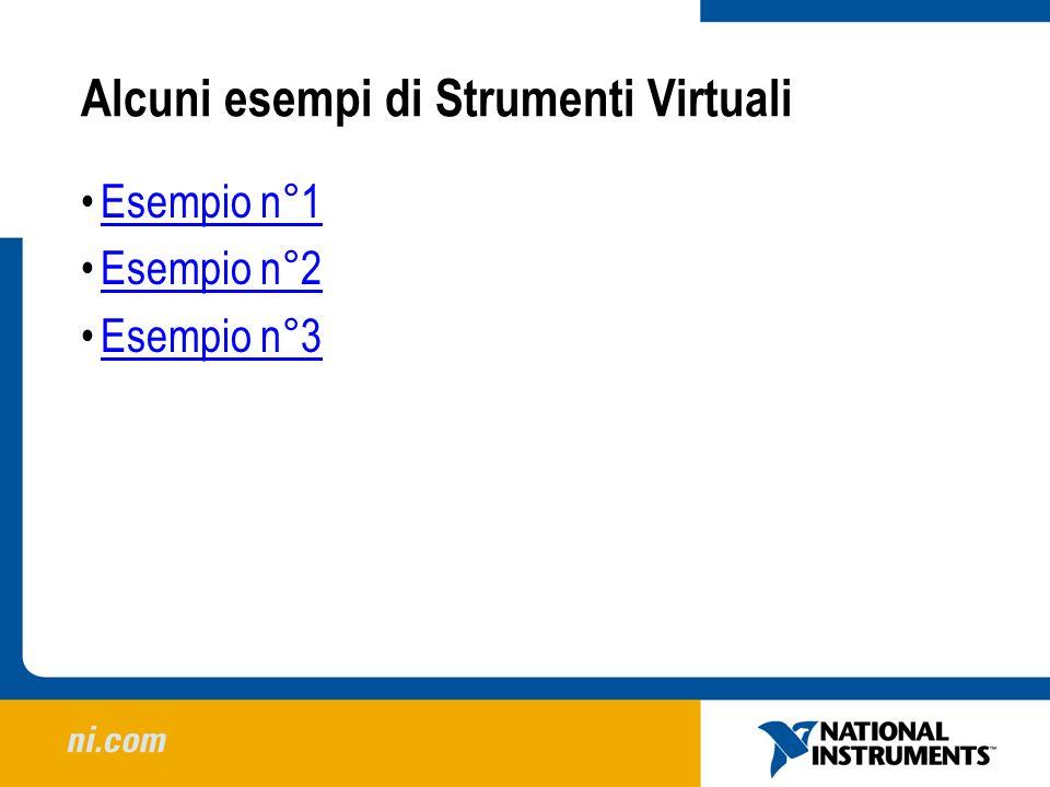 Alcuni esempi di Strumenti Virtuali Esempio n°1 Esempio n°2 Esempio n°3