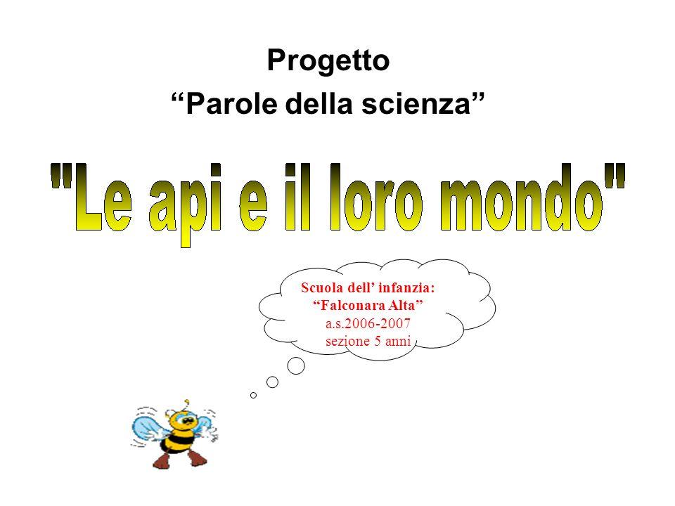 Progetto Parole della scienza Scuola dell infanzia: Falconara Alta a.s.2006-2007 sezione 5 anni