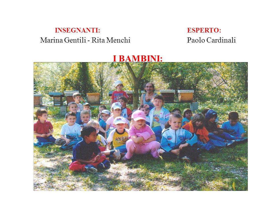 INSEGNANTI: ESPERTO: Marina Gentili - Rita Menchi Paolo Cardinali I BAMBINI: