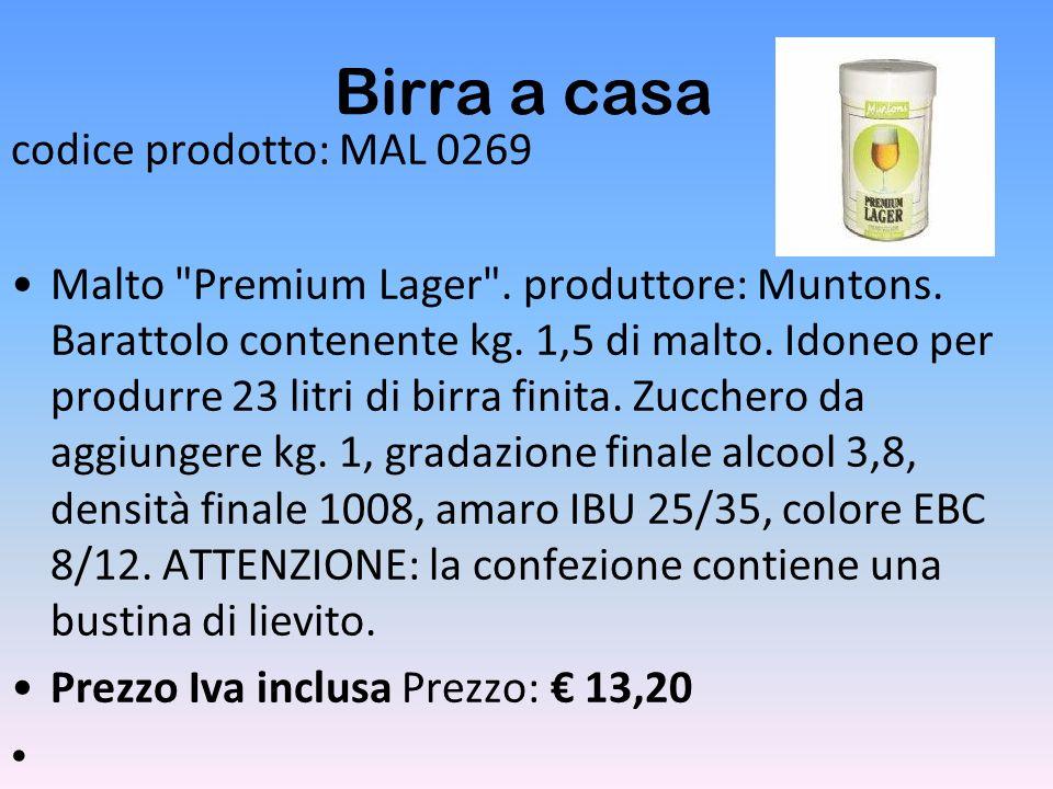 Birra a casa codice prodotto: MAL 0269 Malto