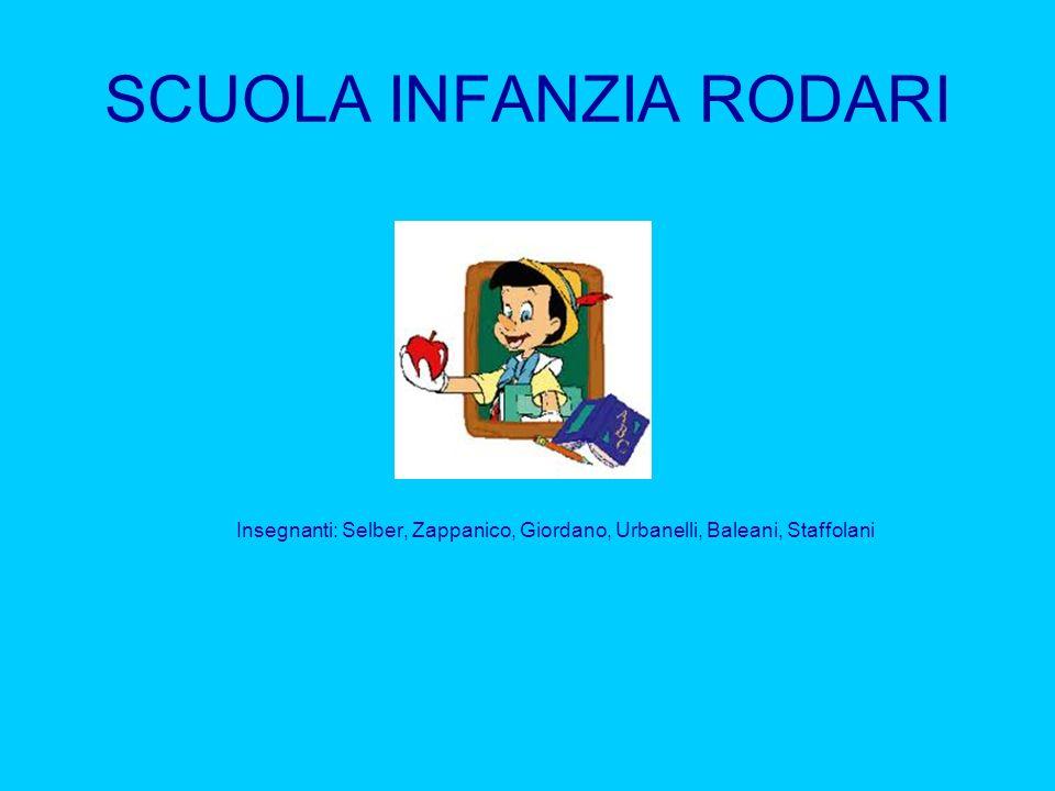 SCUOLA INFANZIA RODARI Insegnanti: Selber, Zappanico, Giordano, Urbanelli, Baleani, Staffolani