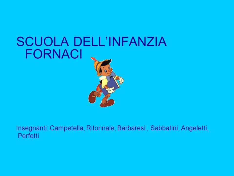 SCUOLA DELLINFANZIA FORNACI Insegnanti: Campetella, Ritonnale, Barbaresi, Sabbatini, Angeletti, Perfetti