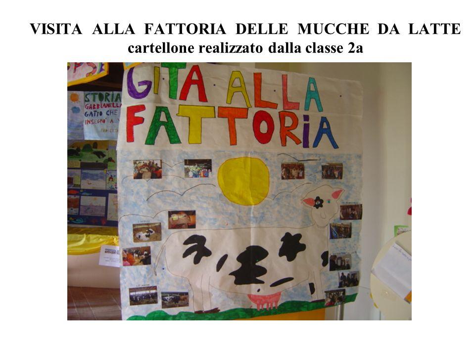 VISITA ALLA FATTORIA DELLE MUCCHE DA LATTE cartellone realizzato dalla classe 2a