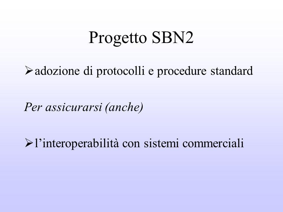Progetto SBN2 adozione di protocolli e procedure standard Per assicurarsi (anche) linteroperabilità con sistemi commerciali