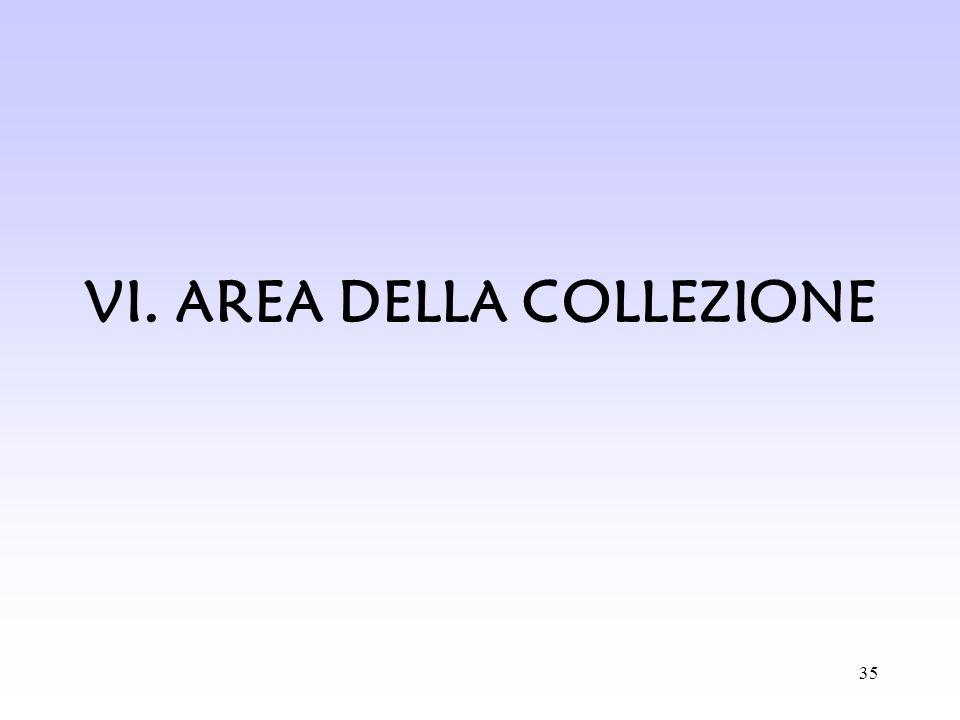 35 VI. AREA DELLA COLLEZIONE