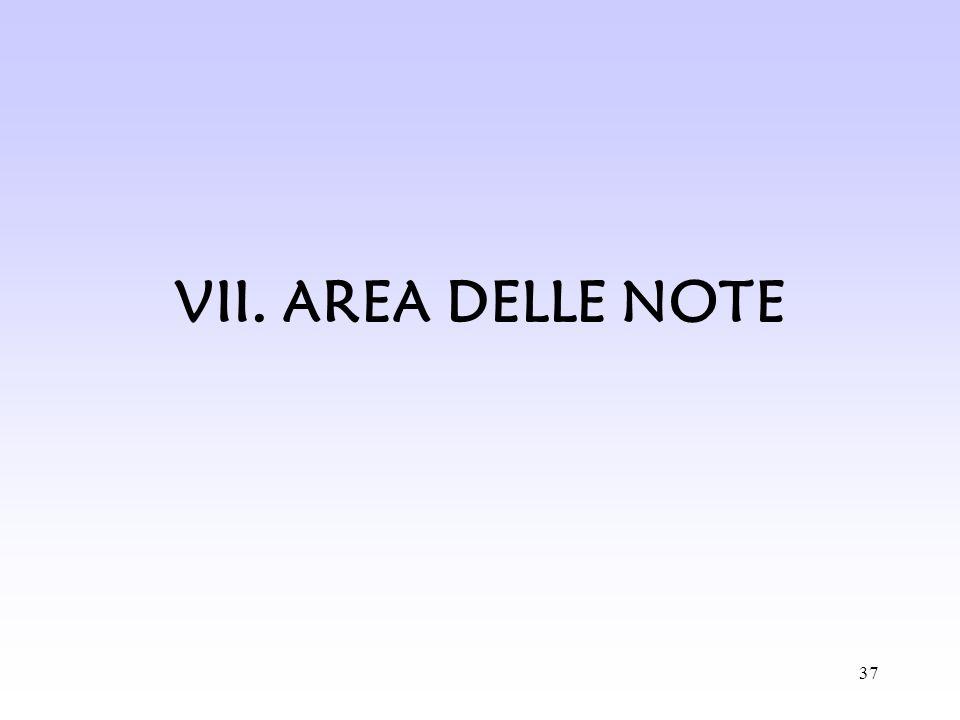 37 VII. AREA DELLE NOTE