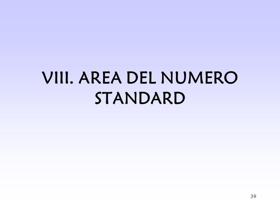 39 VIII. AREA DEL NUMERO STANDARD