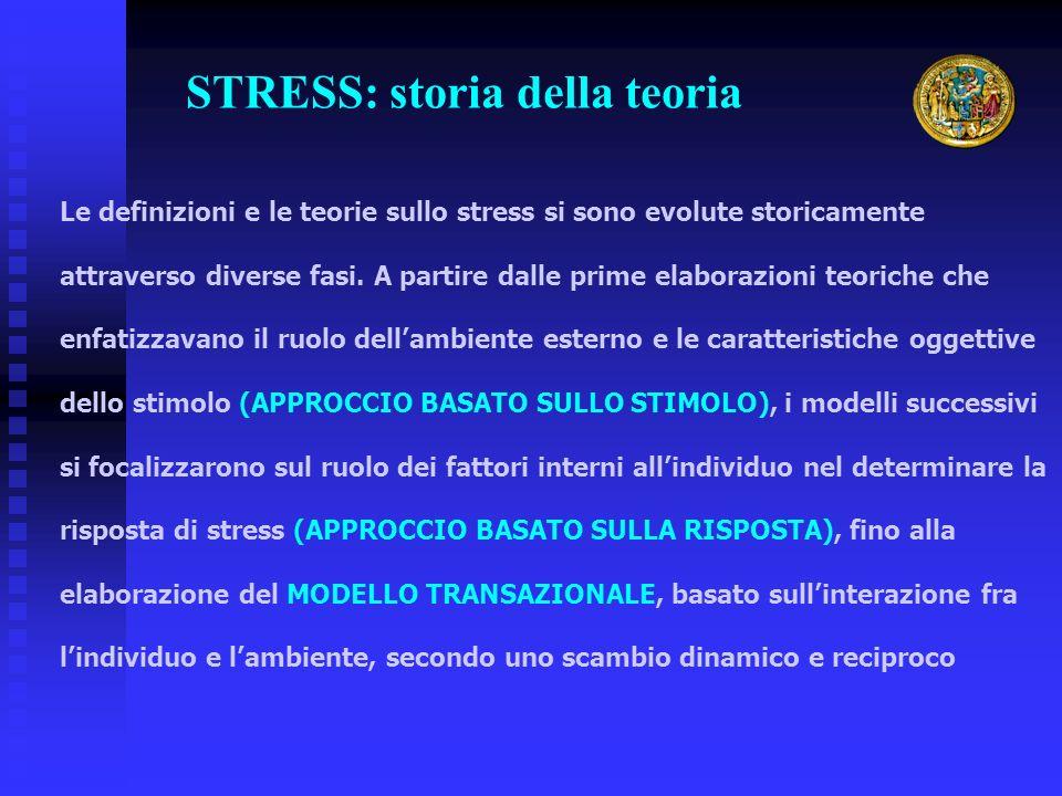 Le definizioni e le teorie sullo stress si sono evolute storicamente attraverso diverse fasi. A partire dalle prime elaborazioni teoriche che enfatizz