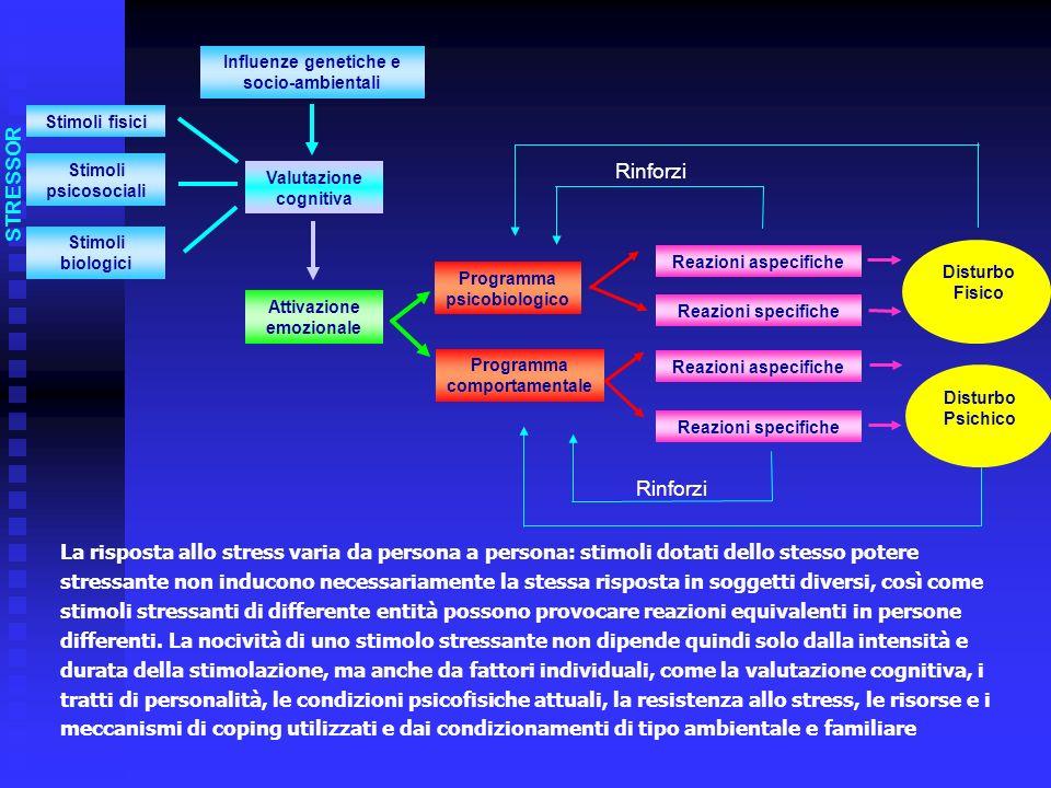 La risposta allo stress varia da persona a persona: stimoli dotati dello stesso potere stressante non inducono necessariamente la stessa risposta in s