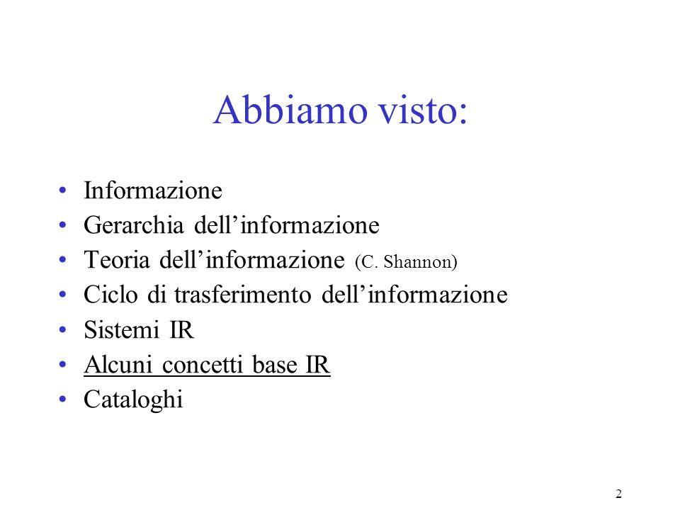 23 Doc. Rilevanti vs. Recuperati Rilevanti Recuperati Tutti i doc.