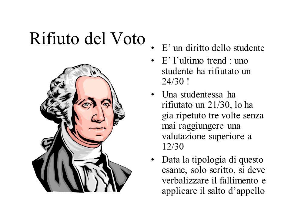 Rifiuto del Voto E un diritto dello studente E lultimo trend : uno studente ha rifiutato un 24/30 .