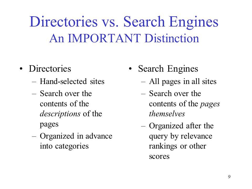 9 Directories vs.