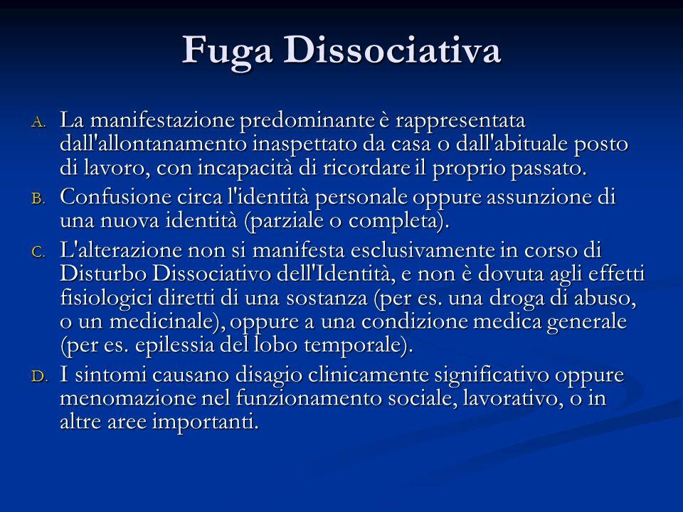 Disturbo di Depersonalizzazione A.