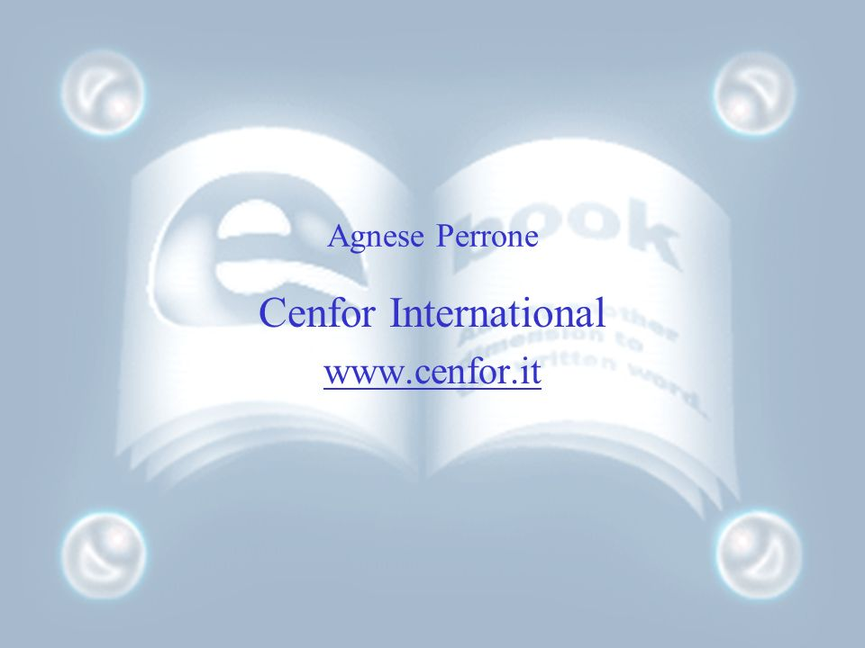 Agnese Perrone Cenfor International www.cenfor.it