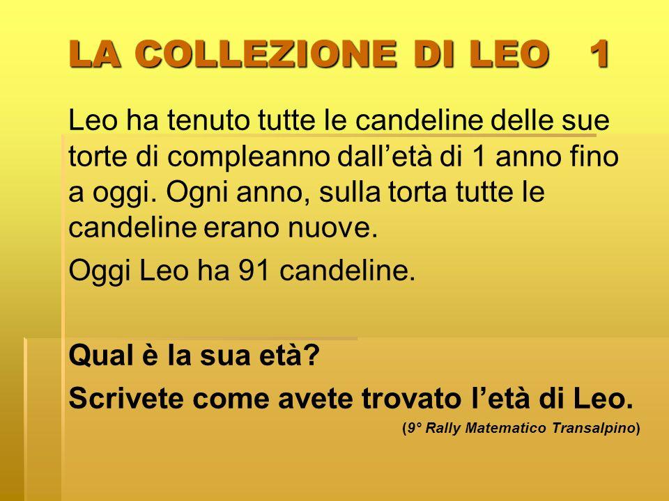 LA COLLEZIONE DI LEO 1 Leo ha tenuto tutte le candeline delle sue torte di compleanno dalletà di 1 anno fino a oggi. Ogni anno, sulla torta tutte le c
