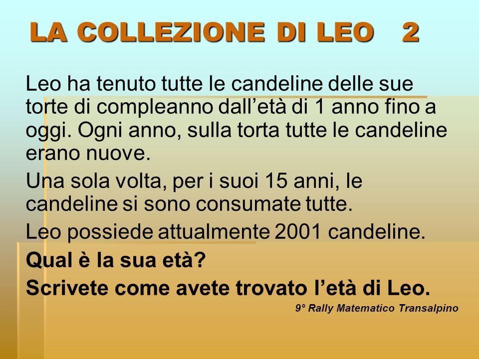 LA COLLEZIONE DI LEO 2 Leo ha tenuto tutte le candeline delle sue torte di compleanno dalletà di 1 anno fino a oggi. Ogni anno, sulla torta tutte le c