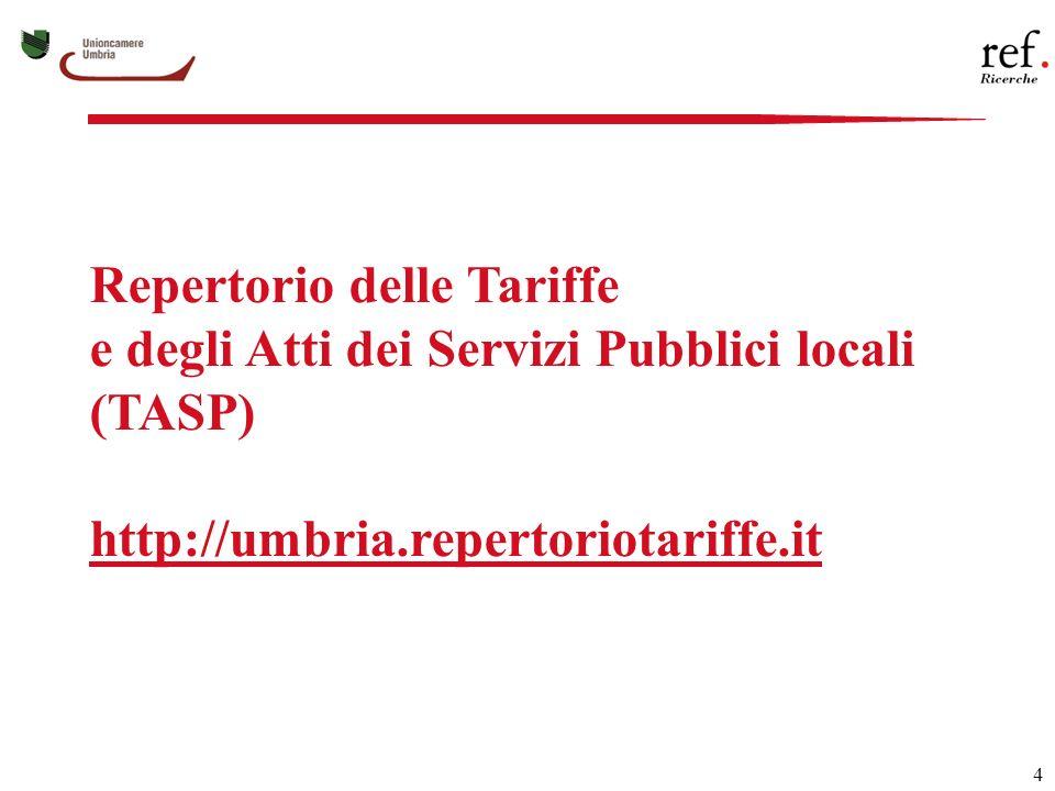 15 Regione Umbria: 4 Ambiti Territoriali Integrati