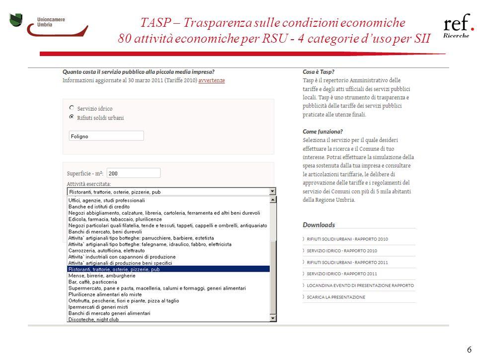 7 TASP – Calcolo della spesa all inclusive