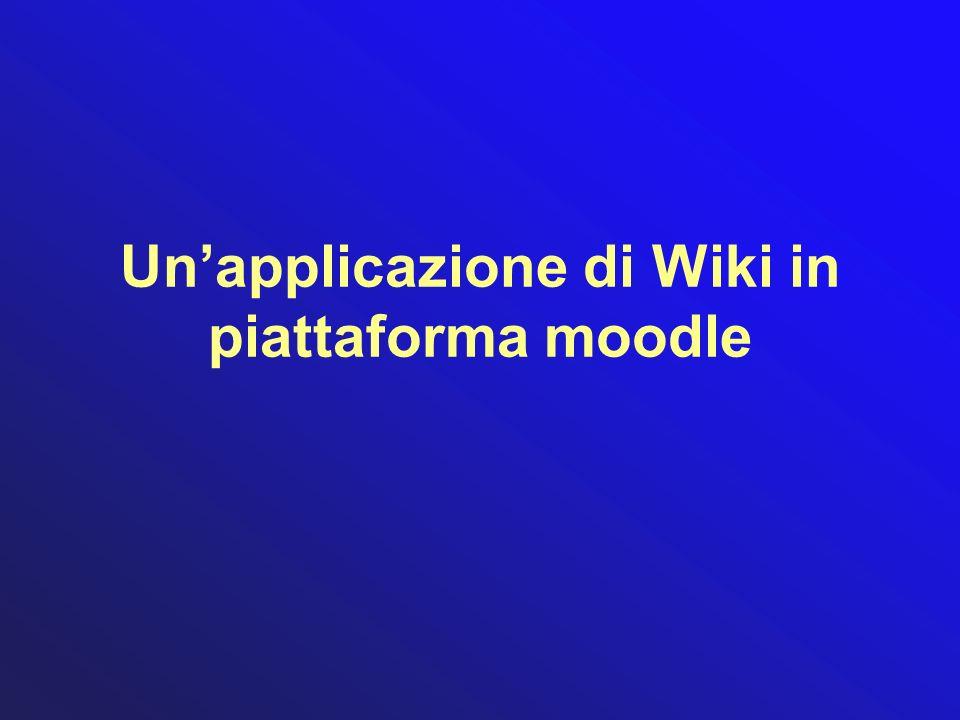 Unapplicazione di Wiki in piattaforma moodle