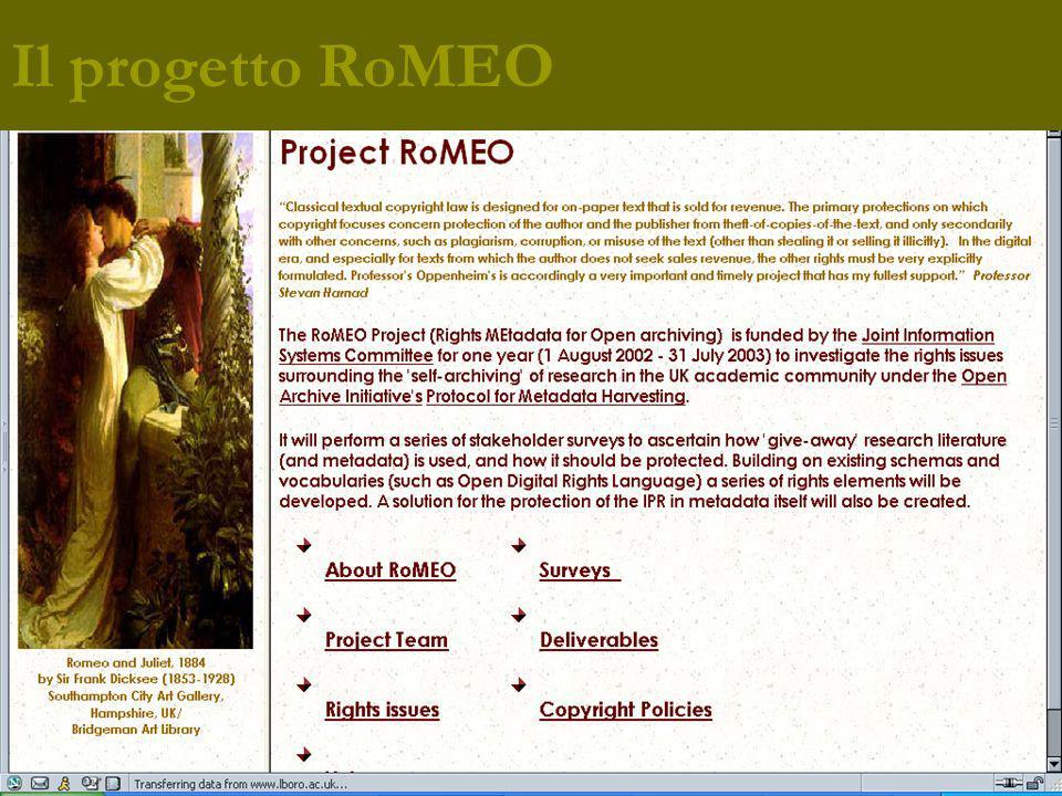 Il progetto RoMEO
