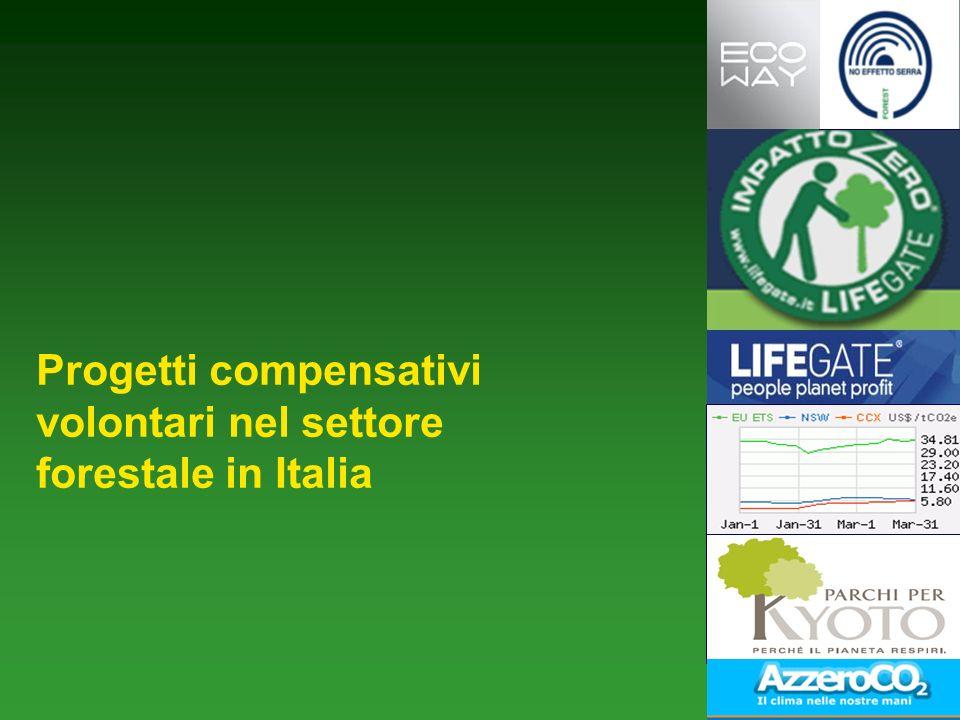 Progetti compensativi volontari nel settore forestale in Italia
