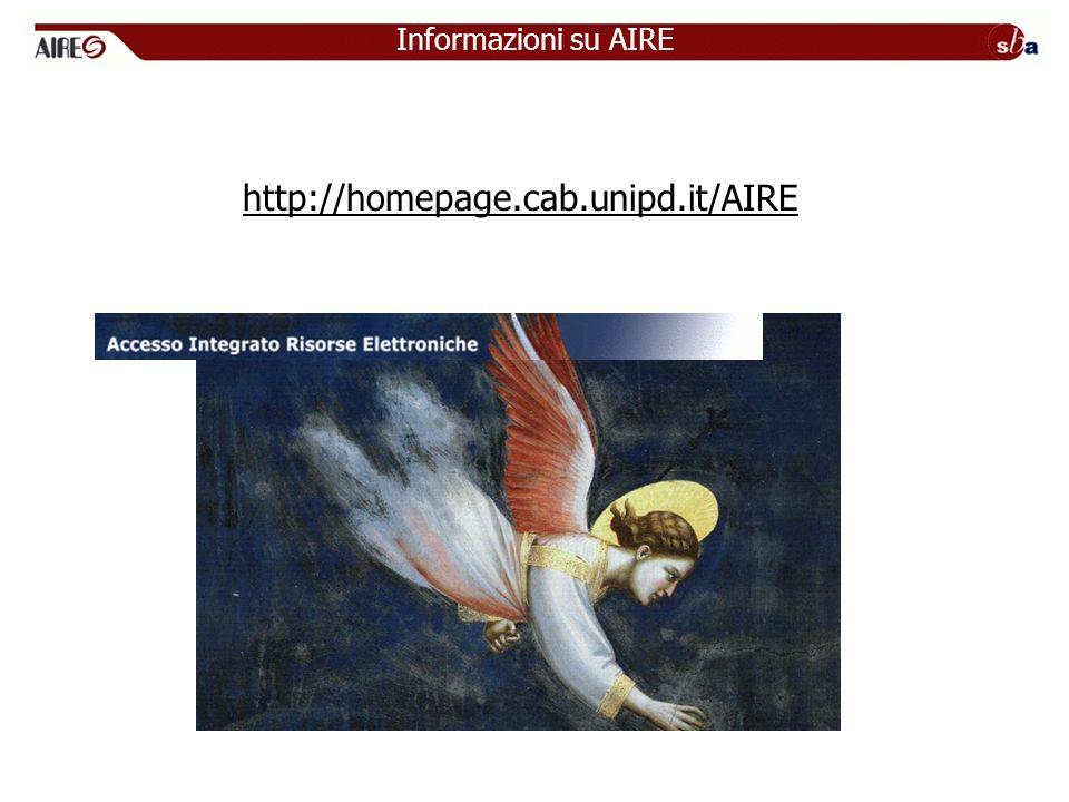 http://homepage.cab.unipd.it/AIRE Informazioni su AIRE
