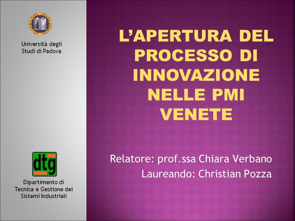 Relatore: prof.ssa Chiara Verbano Laureando: Christian Pozza Dipartimento di Tecnica e Gestione dei Sistemi Industriali Università degli Studi di Pado