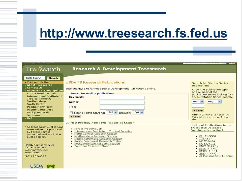 http://www.treesearch.fs.fed.us