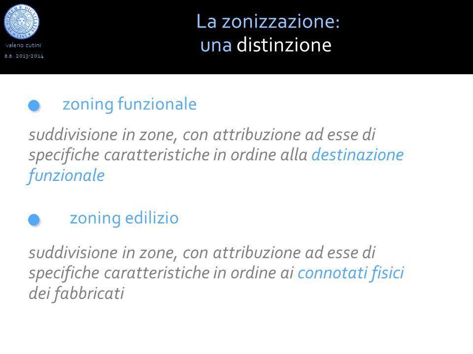 valerio cutini La zonizzazione: una distinzione a.a. 2013-2014 zoning funzionale zoning edilizio suddivisione in zone, con attribuzione ad esse di spe
